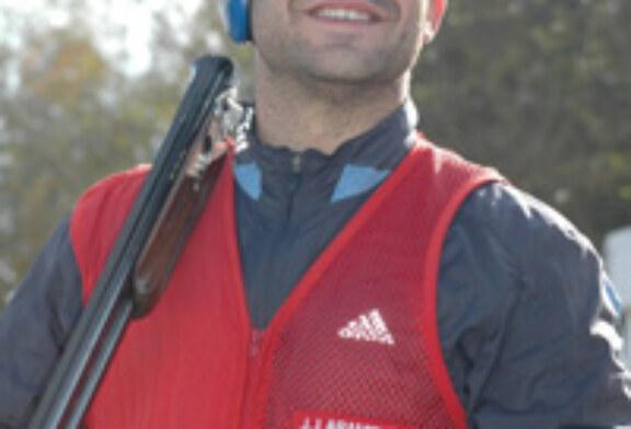 El irundarra Juan José Aramburu, récord del mundo en skeet y plaza olímpica