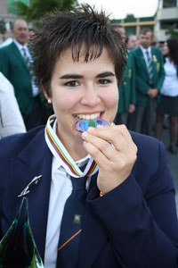 Cristina Gutiérrez ganadora del Premio Bizkaia Kirolak 2011 a la Mejor Trayectoria Deportiva