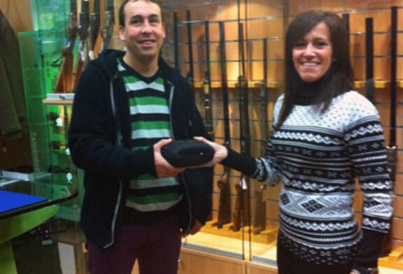 Gorka Galdeano, ganador de un Telémetro Binocular donado por la armería Sarasketa
