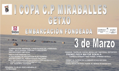 Getxo acogerá la I Copa Miraballes de Embarcación Fondeada