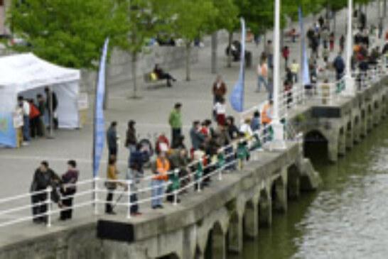 Domingos de pesca con los más txikis en Bilbao