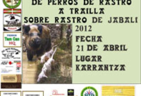 Campeonato de Bizkaia de Perros de Rastro atraillados sobre Jabalí en Karrantza