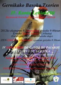 Jilgueros, pardillos y mixtos en el IV Concurso de Canto de Pájaros Silvestres de Gernika