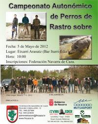 Aplazado el autonómico navarro de Perros de Rastro sobre Jabalí hasta el 23 de junio