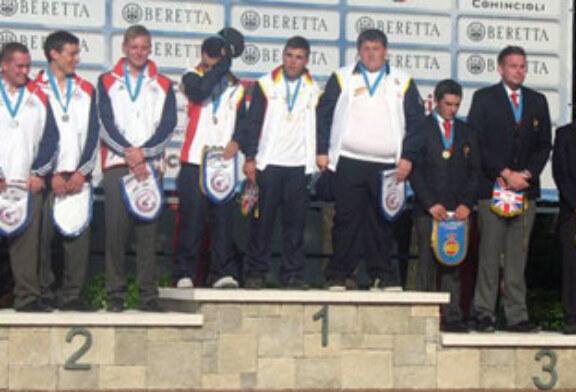 Iñaki Arteche, subcampeón de Europa junior de Foso Universal