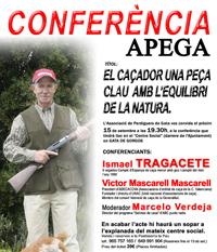 """Conferencia APEGA: """"El cazador, una pieza clave para el equilibrio de la naturaleza"""""""