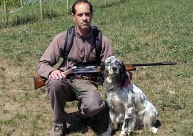 José Manuel Cobo, campeón cántabro de caza menor con perro