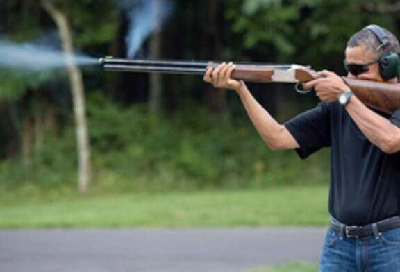 La Casa Blanca divulga una foto de Obama practicando el tiro al plato