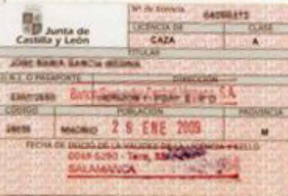 La licencia de caza de Castilla y León será un 10% más barata para los federados en la comunidad