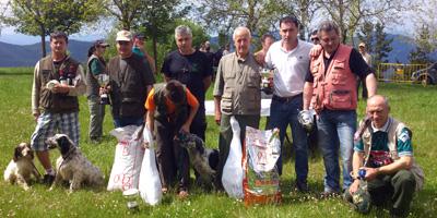 Luis Maiz y Asier Murua vencedores en Arrate de la prueba de perros de muestra