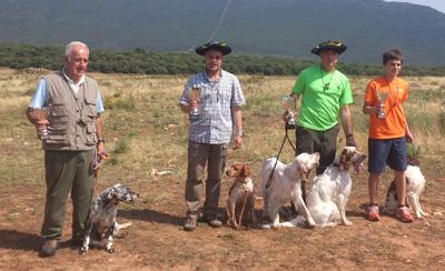 Víctor Viles e Iker Cenzual, campeones guipuzcoanos de perros de muestra