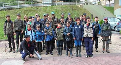 Los pescadores más jóvenes se dieron cita en el Campeonato de Bizkaia de Salmónidos