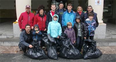 150 kilos de basura menos en los ríos de Arrigorriaga