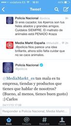 Jóvenes por la Caza critica el posicionamiento anticaza de la empresa Media Markt en su perfil de Twitter