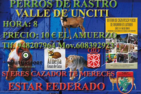 Prueba de perros de rastro Valle de Unciti