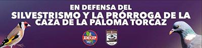 Concentración de ADECAP y la Federación Bizkaina de Caza en defensa del silvestrismo y la prórroga de la caza de la paloma torcaz