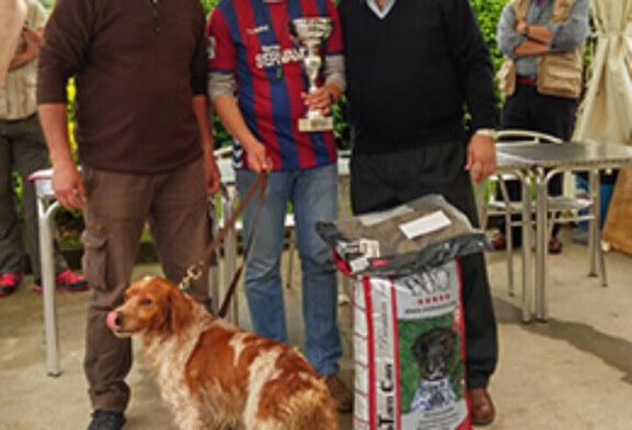 El eibarrés Iker Cenzual y su bretón Dardo de Coplilla, campeones de Euskadi de San Huberto