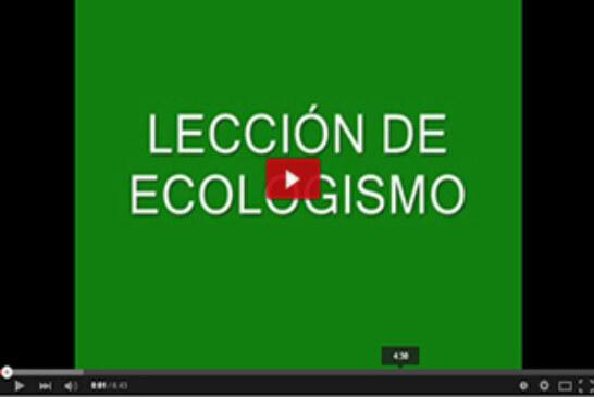 Lección de ecologismo