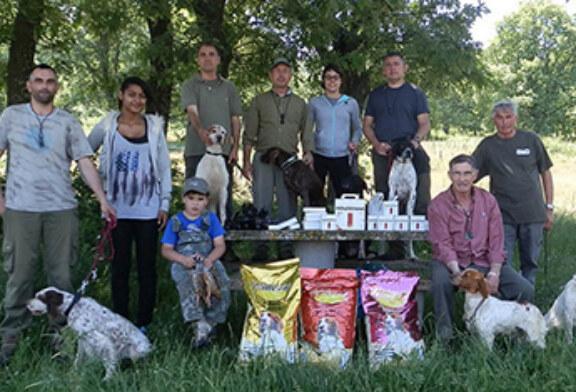 El C.D. «Amigos del perro de caza de La Rioja» celebra su última prueba de San Huberto