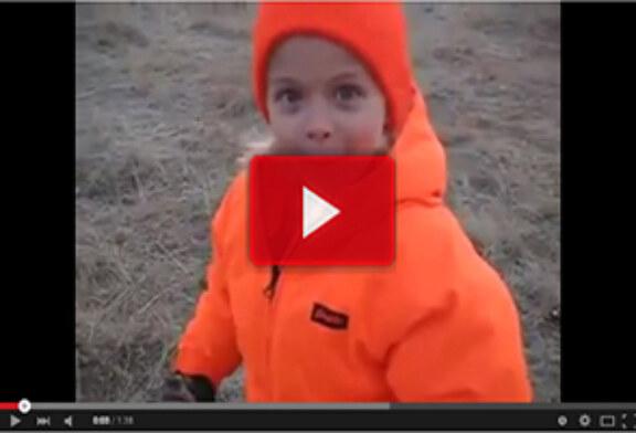 Reacción de un joven, tras un lance de caza
