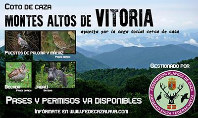 Abierto el plazo de adjudicación directa para pases de becada en el coto montes Altos de Vitoria