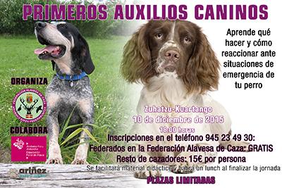 Jornada sobre primeros auxilios caninos en Kuartango