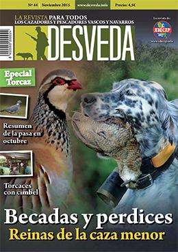 Becadas y perdices, protagonistas de la revista Desveda de noviembre