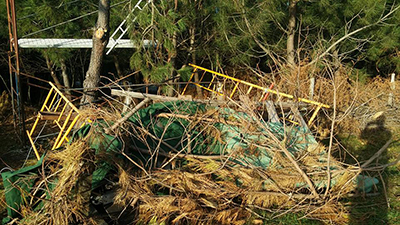 Vuelven a destrozar puestos de caza en Jaizkibel