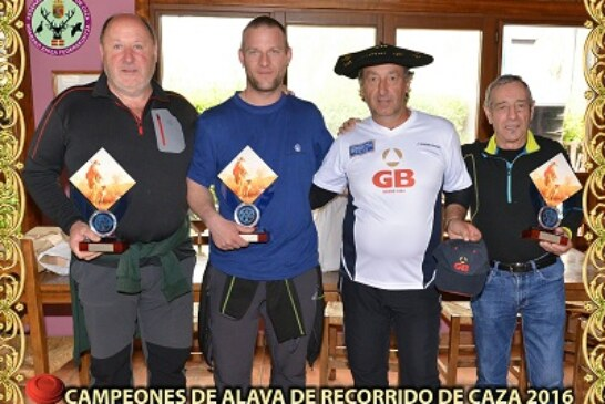 Juan Gardeazabal, campeón de Álava de recorridos de caza