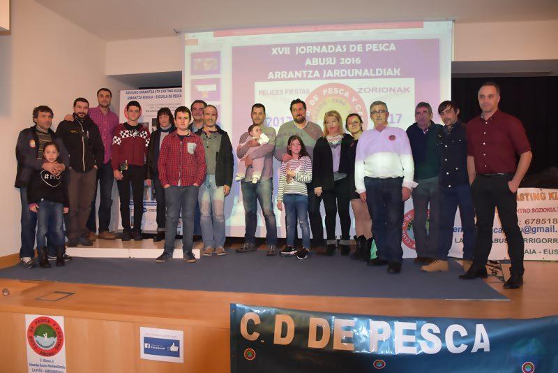 El histórico club de pesca Abusu de Arrigorriaga (Bizkaia) entrega sus galardones anuales