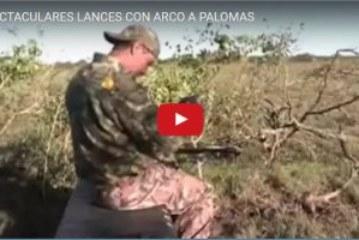 ESPECTACULARES LANCES CON ARCO A PALOMAS