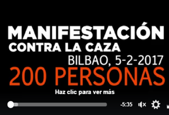VIDEO DE ADECAPGAZTEAK SOBRE LA MANIFESTACIÓN ANTI CAZA DE EL PASADO DOMINGO