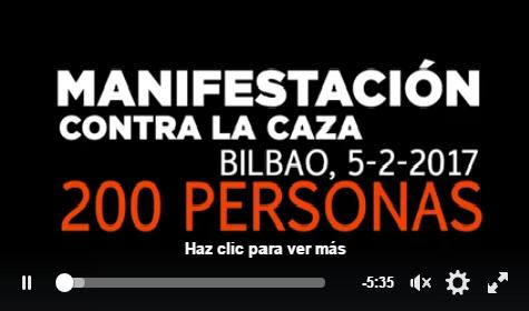 VIDEO DE ADECAPGAZTEAK SOBRE LA MANIFESTACIÓN ANTI CAZA DE EL PASADO DOMINGO