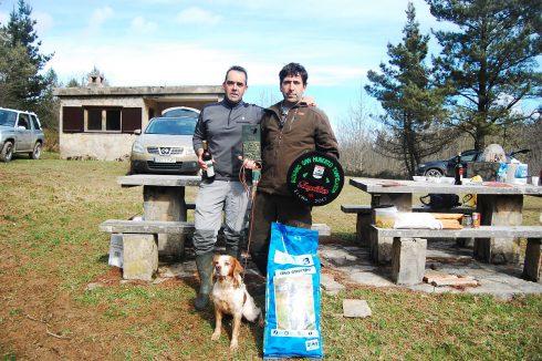 Javier Uriarte ganador del Campeonato de San Huberto de Bizkaia