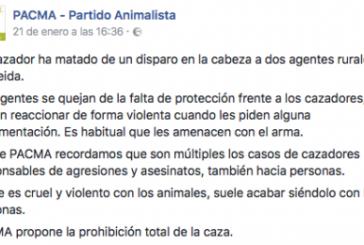 ADMITIDA A TRÁMITE LA DEMANDA DE LA ONC CONTRA EL PACMA POR SU ATAQUE A LOS CAZADORES