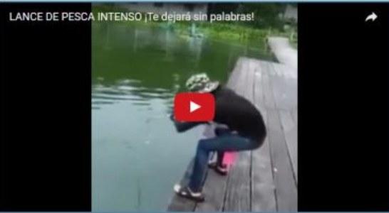 Complicado lance de pesca ¡Menuda captura!