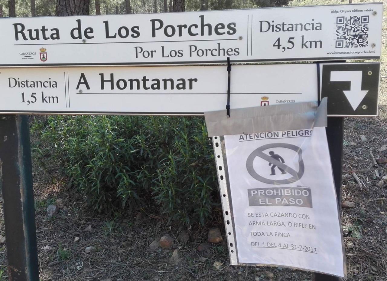 Denuncian que los cazadores prohíben usar una ruta senderista en el Parque de Cabañeros