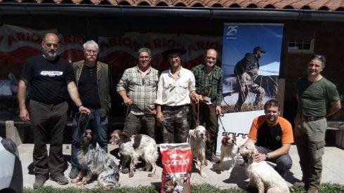 Julián Pérez campeón de Alava de caza San Huberto