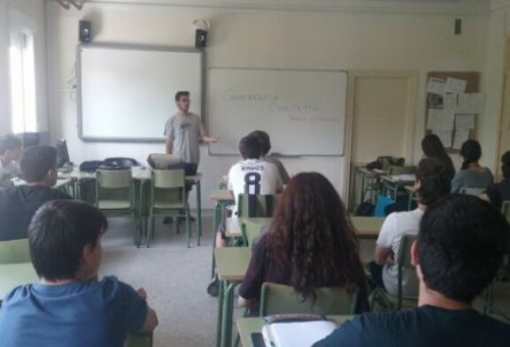 Conferencia cinegética de Jóvenes por la caza en IES de San Sebastián de los Reyes