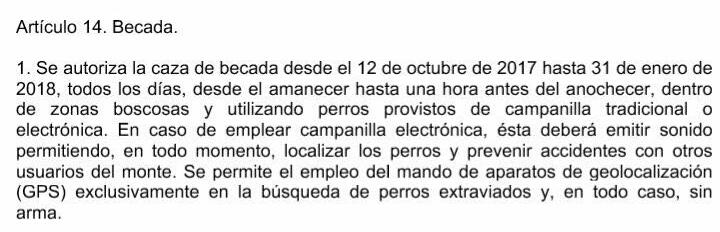 El Gobierno de Navarra plantea eliminar el uso de GPS para la caza de la becada y el campeo libre con perros de muestra durante el mes de febrero