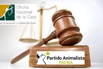 Admitida a trámite la querella de la Oficina Nacional de la Caza contra PACMA por un delito de calumnias e injurias graves