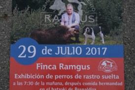 """Alava: 29 de julio """"Exhibicion perros de rastro suelta"""" en la finca RAMGUS"""