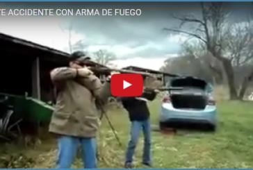 GRAVE ACCIDENTE CON ARMA DE FUEGO