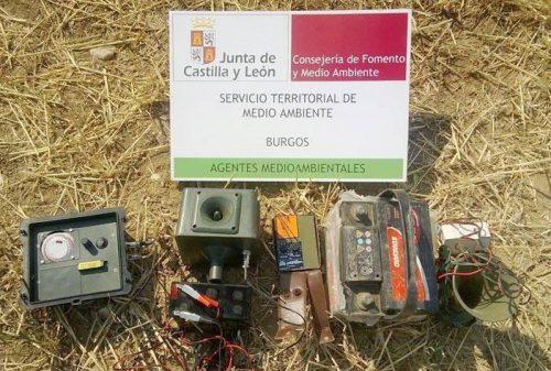 Burgos: Agentes medioambientales detectan el uso de reclamos electrónicos en el inicio de la media veda