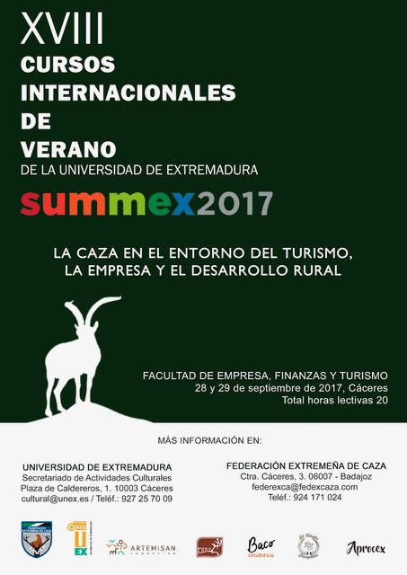 Extremadura: Hoy se celebra el Curso Internacional de Verano sobre el sector de la caza como motor económico