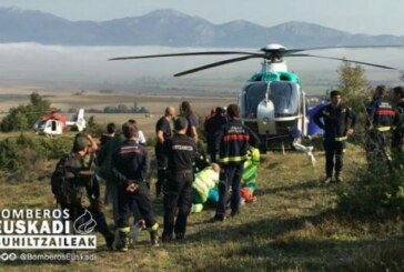 Alava: Rescatan en helicóptero a un cazador herido en las inmediaciones de Egileor