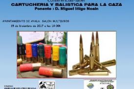 Alava: Conferencia sobre Cartuchería y Balística para la caza