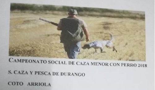 Bizkaia: Campeonato caza menor con perro. Sociedad caza y pesca de Durango