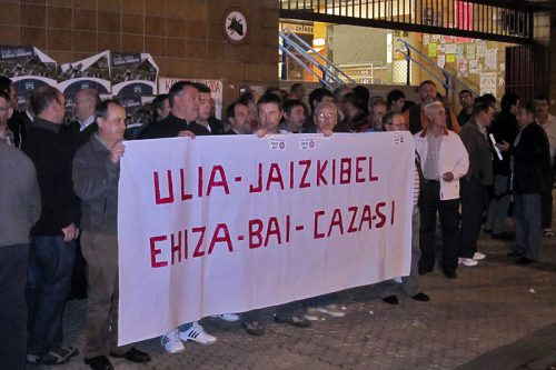 Eguzki se manifiesta en Ulia contra la sentencia del Tribunal Supremo