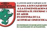 """<span class=""""entry-title-primary"""">La Federación Navarra de Caza llama a los cazadores a concentrarse el 15 de abril</span> <span class=""""entry-subtitle"""">Respondiendo a la convocatoria de la RFEC en 50 ciudades de España</span>"""